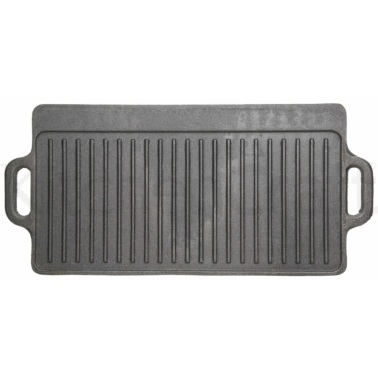 Kitchen Craft Deluxe Cast Iron Griddle 45cm x 23cm