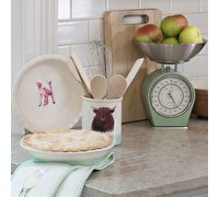 Apple Farm Fluted Pie Dish 26cm Stoneware