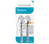 KitchenCraft Set of 6 Stainless Steel Teaspoons
