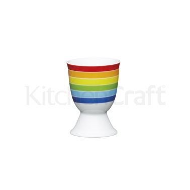 KitchenCraft Brights Stripes Porcelain Egg Cup