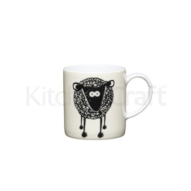KitchenCraft 80ml Porcelain Sheep Espresso Cup