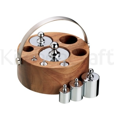 Natural Elements 8 Piece Imperial Weight Set with Wood Stand