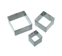 Sweetly Does It Set of 3 Square Fondant Cutters