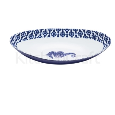 Artesà Large Oval Porcelain Serving Bowl