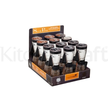 Master Class Display of 12 Single Hand Salt & Pepper Mills