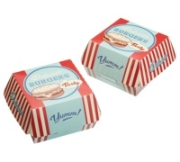 World of Flavours Stateside Pack of 6 Paper Burger Boxes