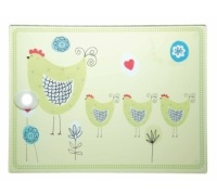 Kitchen Craft Toughened Glass Rectangular Worktop Protector - Chicken