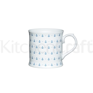KitchenCraft Fine Porcelain Anchor Mug