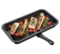 Kitchen Craft Enamel 40cm x 23cm Grill Pan