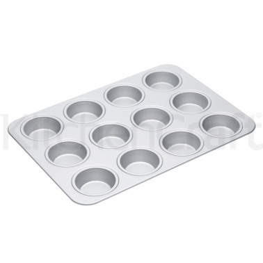 MasterClass Silver Anodised 42cm Muffin Pan