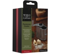 World of Flavours Italian Stainless Steel Parmesan Grater