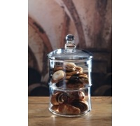 MasterClass Appetiser Glass Two Tier Storage Jar