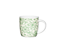 KitchenCraft Set of Four Fine Bone China Botanical Leaf Mugs