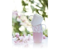 KitchenCraft Fine Bone China Pink Leaf Barrel Mug