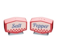 World of Flavours Stateside Ceramic Salt and Pepper Pots