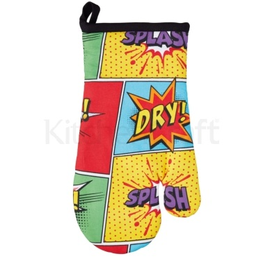 Kitchen Craft Comic Single Double Oven Glove