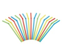 Kitchen Craft Pack of 125 Plastic Drinks Straws