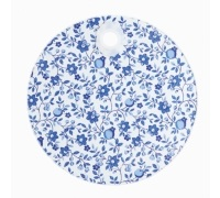 Kitchen Craft Traditional Blue Round Toughened Glass Worktop Protector