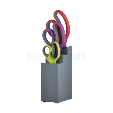 Colourworks 3 Piece Scissor Set with Wooden Block