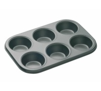 Master Class Non-Stick 6 Hole Deep Baking Pan