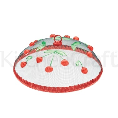 KitchenCraft Round Fabric Mesh Embroidered Rigid Food Covers