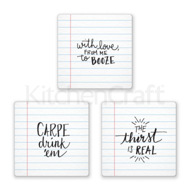 Fred Pack of 6 Noted Coasters