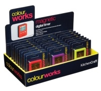 Colourworks Display of 24 Slimline Easy Read Digital Timers