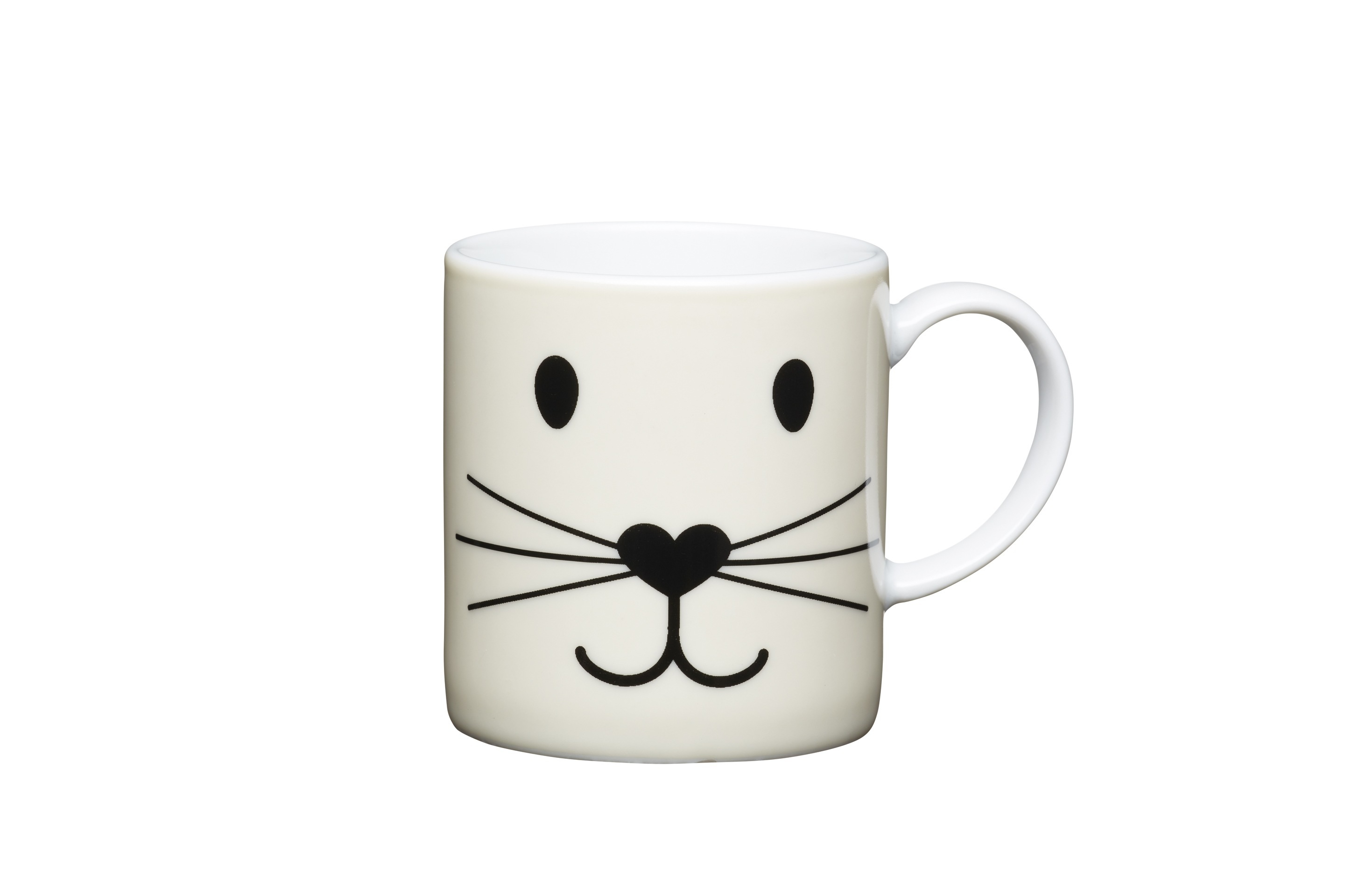 Kitchencraft 80ml Porcelain Cat Face Espresso Cup