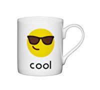 KitchenCraft Set of Four Bone China Cool Emoji Face Mini Mugs