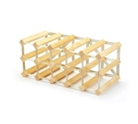 Bar Craft 15 Bottle Pine Wood Wine Rack