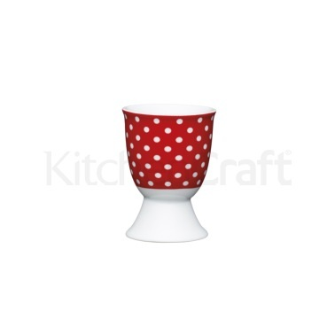 KitchenCraft Red Polka Dot Porcelain Egg Cup