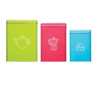 Colourworks 3 Piece Beverage Storage Tin Set