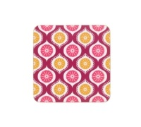 KitchenCraft Geometric Cork Back Laminated Set of 4 Coasters