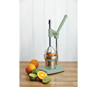 Living Nostalgia Heavy Duty Lever-Arm Manual Orange Juicer - English Sage Green