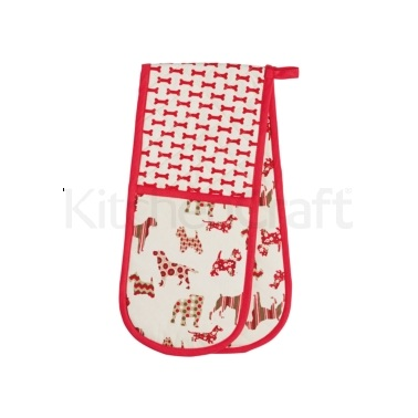KitchenCraft Dog Silhouette Double Oven Glove