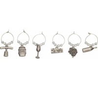 Bar Craft Set of 6 Decorative Wine Charms