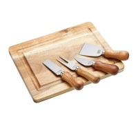 Artesà Acacia Wood Cheese Board & Knife Set