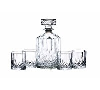 BarCraft Cut Glass Decanter Set