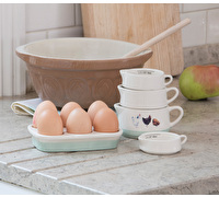 Apple Farm Hand-Finished Stoneware 6 Egg Holder