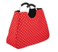 Coolmovers 17 Litre Reusable Red Polka Dot Shopping Bag