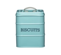Living Nostalgia Vintage Blue Biscuit Tin
