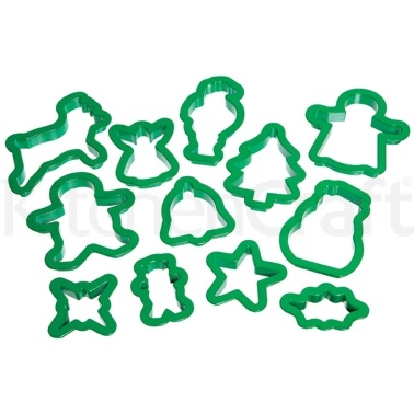 Let's Make Plastic Christmas Cookie Cutter Set