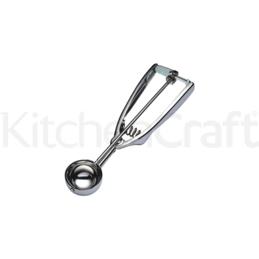 KitchenCraft Deluxe Stainless Steel 3.9cm (39mm) Ice Cream Scoop