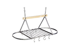 Industrial Kitchen Vintage-Style Ceiling Hanging Pot & Pan Rack