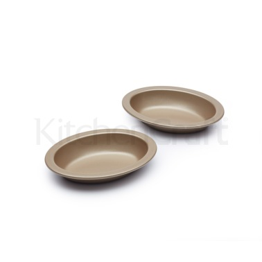 Paul Hollywood Set of 2 Non-Stick Individual Oval Pie Dishes
