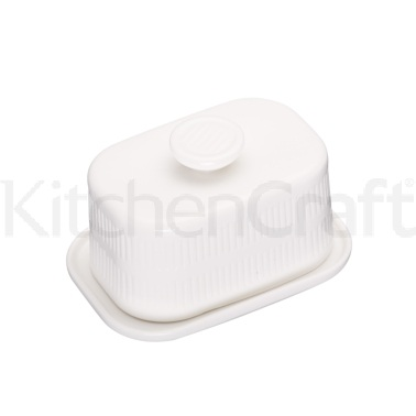 Calico Ceramic Covered Butter Dish