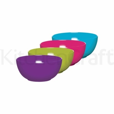 Colourworks Set of 4 Melamine Bowls