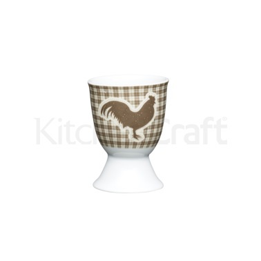 KitchenCraft Textured Hen Porcelain Egg Cup