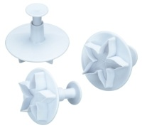Sweetly Does It Set of 3 Lotus Blossom Fondant Plunger Cutters