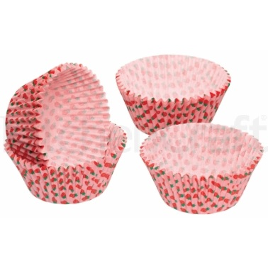 Sweetly Does It Pack of 60 Strawberry Cupcake Cases